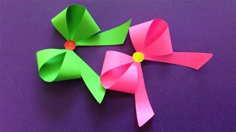 How To Make Ribbon Paper - how to make a paper bow ribbon easy origami bow ribbons