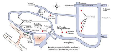 quad city international airport maps