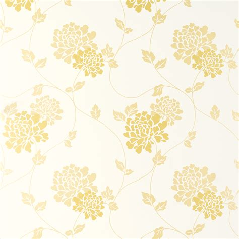 large flower wallpaper uk isodore camomile yellow white floral wallpaper laura ashley