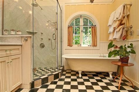 checkerboard bathroom floor checkered patterns for home decor charming or cheap