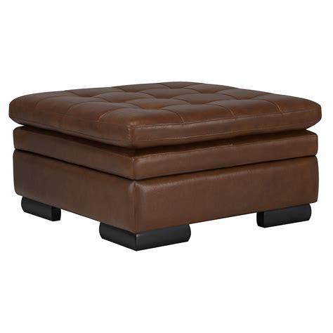 Brown Storage Ottoman Trevor Md Brown Leather Storage Ottoman