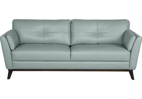 leather sofa blue sofia vergara gabriele spa blue leather sofa leather
