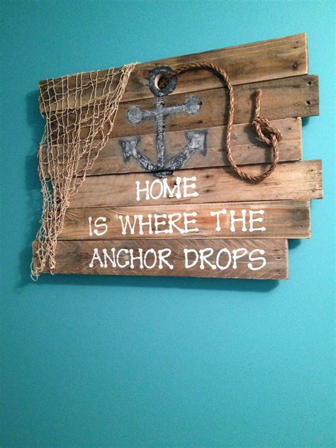 Skyrim Sign Wood Pallet anchor pallet sign beac decor designed by tamica mcbride signs pallets and