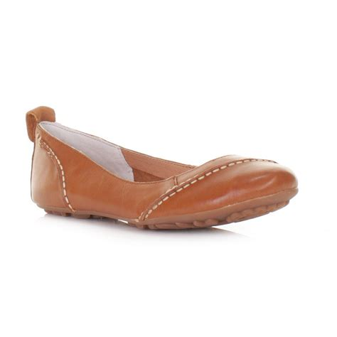 flat leather shoes for womens hush puppies janessa leather flat comfy shoes