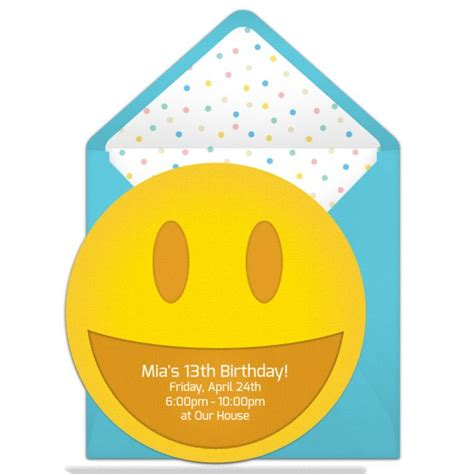 emoji birthday card template free smiley invitations emoticon emoji and free