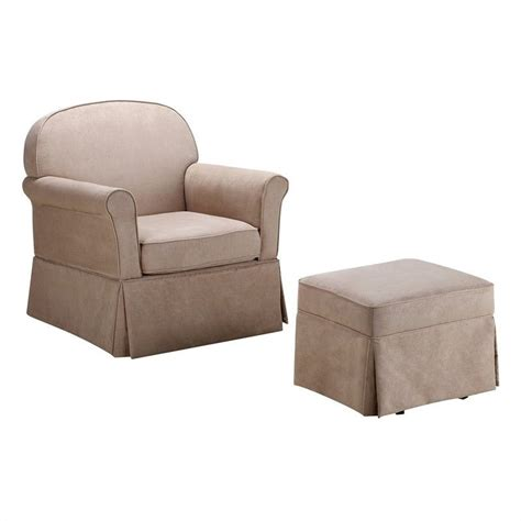 Glider Rocker And Ottoman Set Swivel Glider And Ottoman Set Microfiber Wm6009sgo M