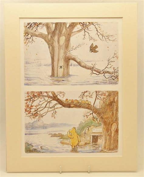 Nursery Wall Art W Mat Vintage Winnie The Pooh Decor Vintage Winnie The Pooh Nursery Decor