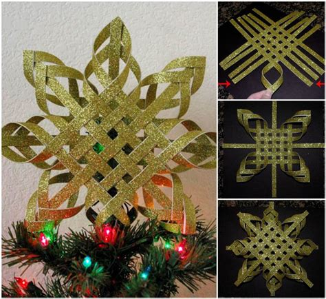 paper tree toppers printables wonderful diy colorful woven snowflake