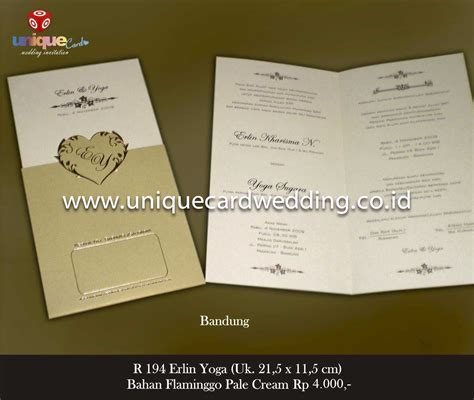 Undangan Pernikahan Wedding Invitation undangan pernikahan erlin unique card wedding invitation produk