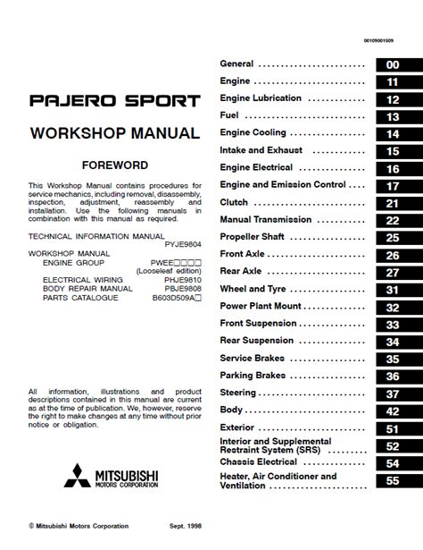 online service manuals 1998 mitsubishi montero sport instrument cluster mitsubishi pajero sport electrical wiring diagram efcaviation com