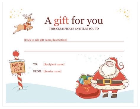 search results for xmas gift certificate free template