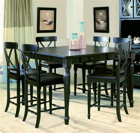 black dining room table set pub height dining table thetastingroomnyc