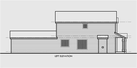 House Plans Narrow Lot With View by Narrow Lot House Plans Rear View House Design Plans