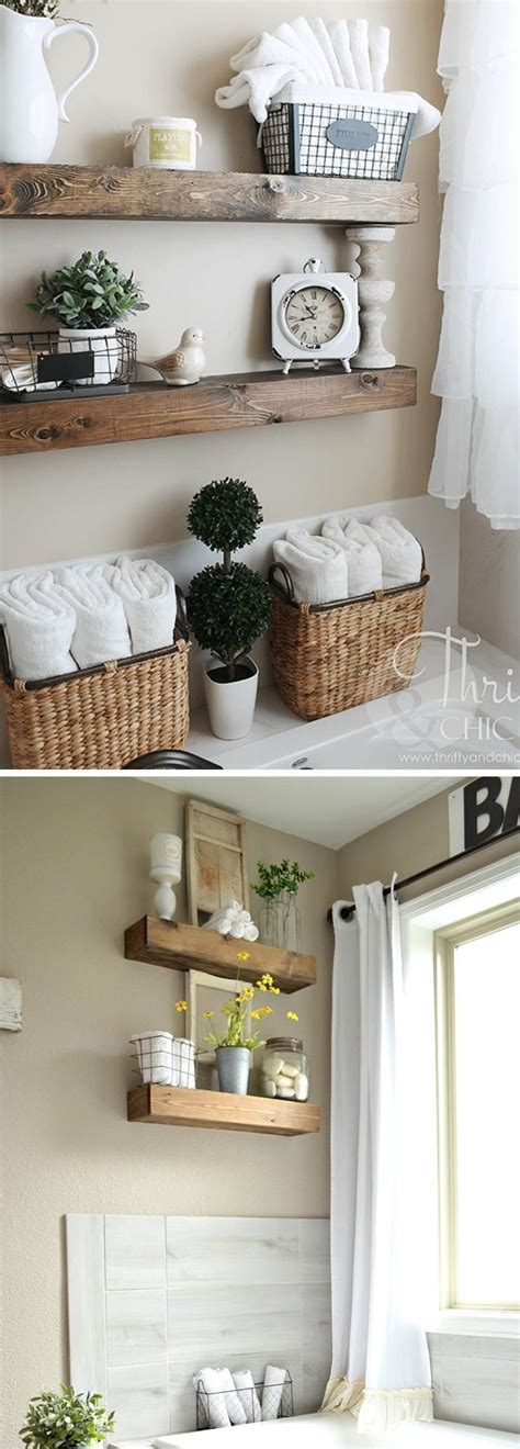 farmhouse inspired bathroom storage