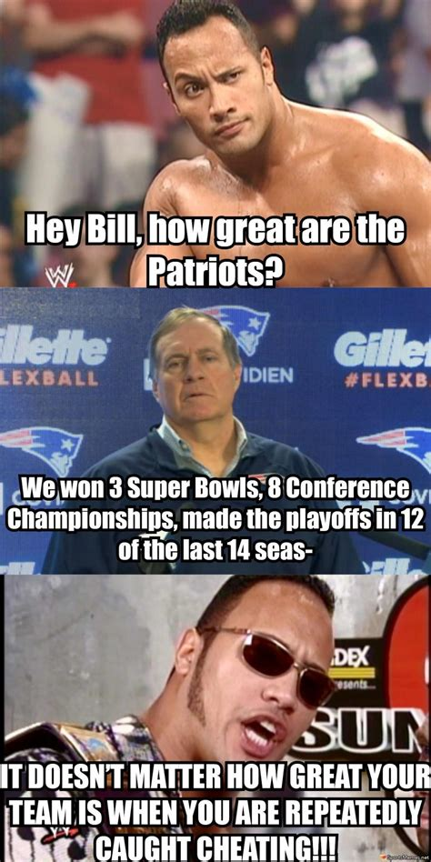 Patriots Memes - the rock on the patriots meme