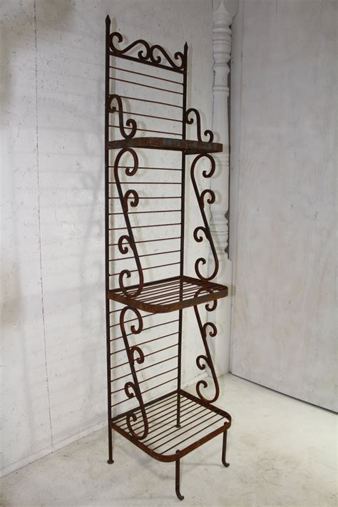 Wrought Iron Bakers Rack by Wrought Iron Narrow Bakers Rack