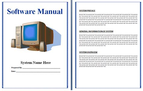 free manual templates user manuals manuals
