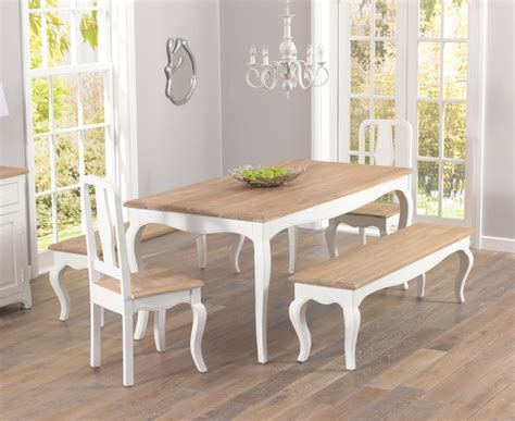 shabby chic dining bench shabby chic dining table peenmedia com