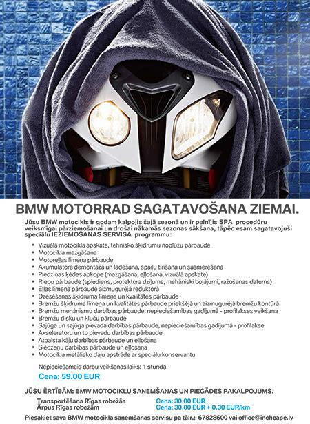 Bmw Motorrad Lv by Bmw Motorrad Bmw Motorrad Sagatavošana Ziemai