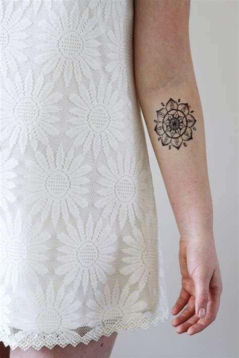henna tattoo materials mandala temporary temporary tattoos by tattoorary