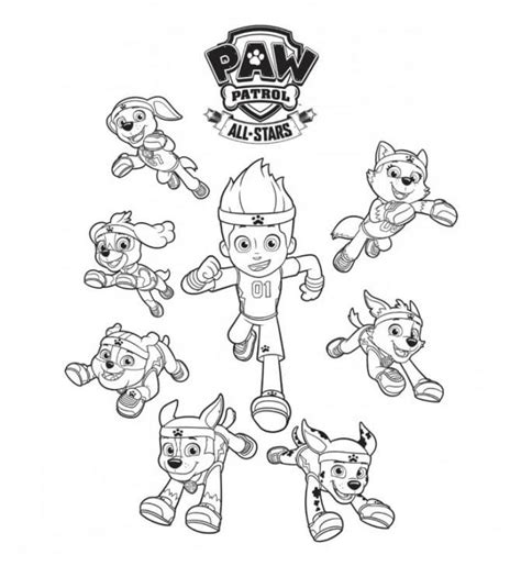 dibujos para pintar patrulla canina dibujos de la patrulla canina para colorear