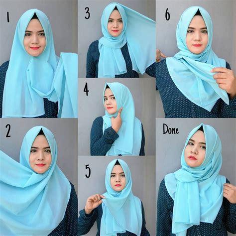 blue easy simple hijab tutorial hijab tutorial