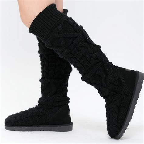 2014 winter warmly knitted snow boots s high leg