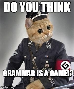 Grammar Nazi Meme - sunday funny grammar nazi edition the truth about knives