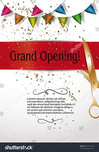 shop opening invitation templates grand opening invitation cards decorations stock