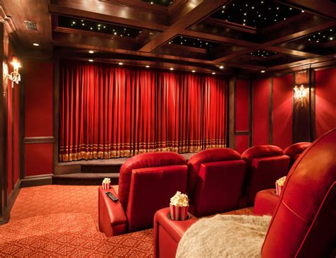 iTEC Private Theater Screening Room Traditional Home Theater New York by iTEC Consultants