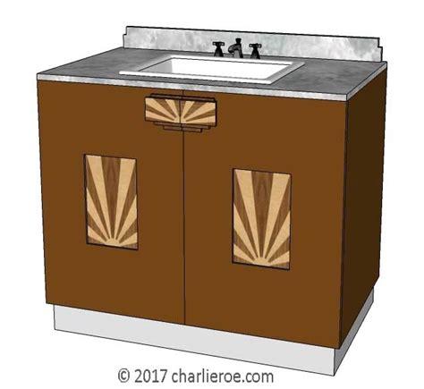 Deco Bathroom Vanity Unit by New Bespoke Deco Lacquered Painted Wooden 2 Door