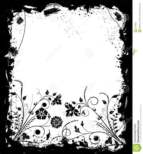 floral grunge frame elements royalty free vector image grunge frame flower elements for design vector stock vector image 1216654