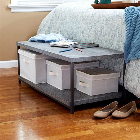 household essentials faux slate sofa table household essentials gray slate faux concrete coffee table