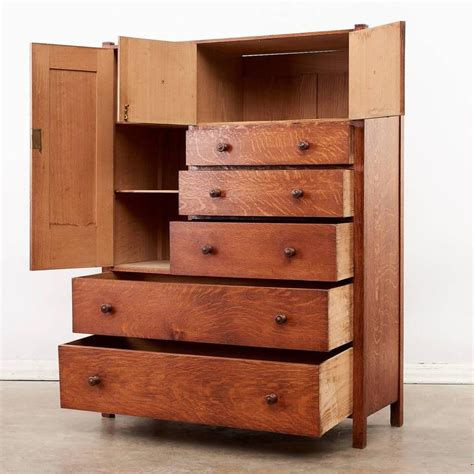 Arts And Crafts Storage Drawers by Arts And Crafts Oak Chest Of Drawers At 1stdibs