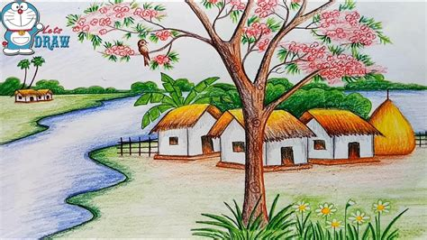 Best Home Colour Best Scenery Drawing Photos World Best Shading Scenery