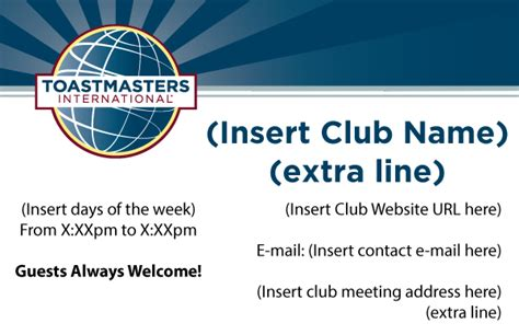 toastmasters business card template club marketing materials your guide on how to order