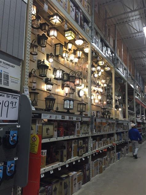 electrical department aisle  home depot office