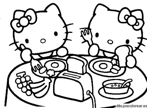 imagenes para pintar de kitty dibujos de hello kitty
