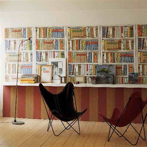 Wallpaper That Looks Like Bookshelves | decoration wallpaper that looks like bookshelves for