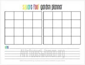 Garden Planner Template by Printable Square Foot Garden Planner