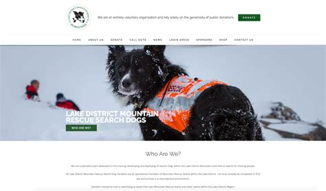 puppy finder websites new website launch lake district mountain rescue search dogs