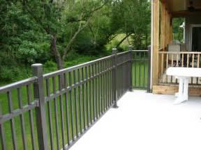 aluminum aluminum deck railing
