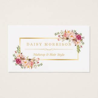 floral design business from home makeup artist business cards zazzle