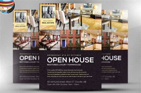 Open House Flyer Template Flyer Templates On Creative Market Open House Flyer Template