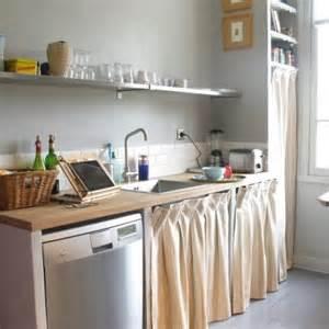 rideau plan de travail cuisine