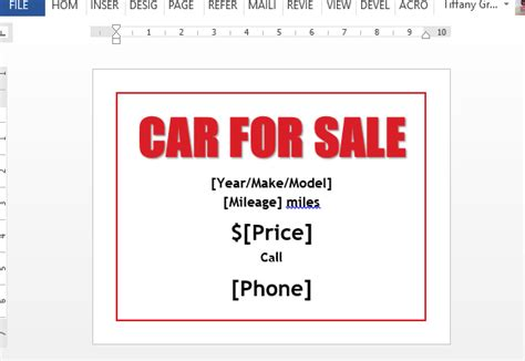 this eye catching editable word car sale flyer template for word