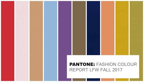 fall 2017 pantone colors pantone official colours for fashion week fall