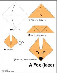 Origami Child - fox easy origami for