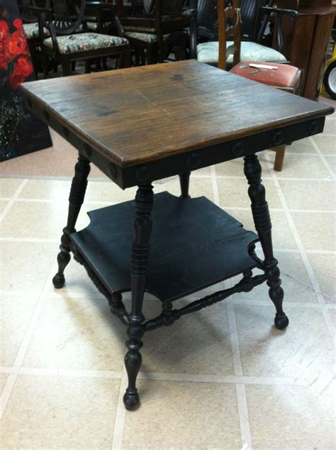 antique side table with spindle legs gorgeous antique arts crafts side table with spindle