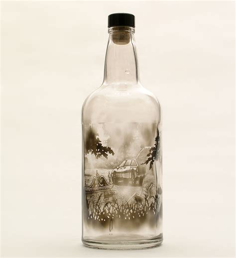 boat in a jar drawing smoke filled glass bottles brushed to create beautiful